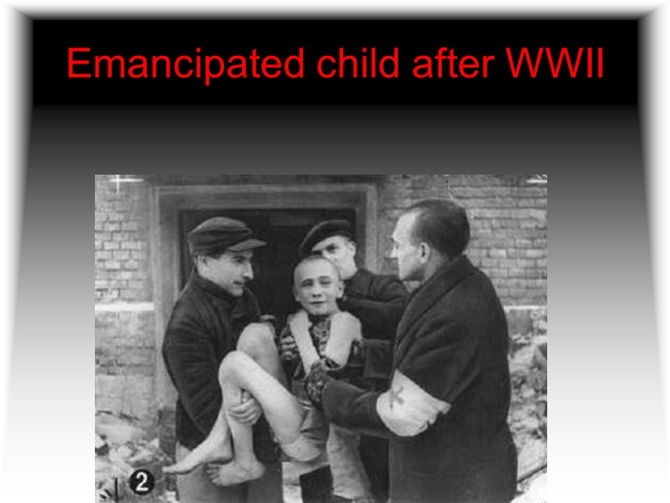 Emancipated child after WWII