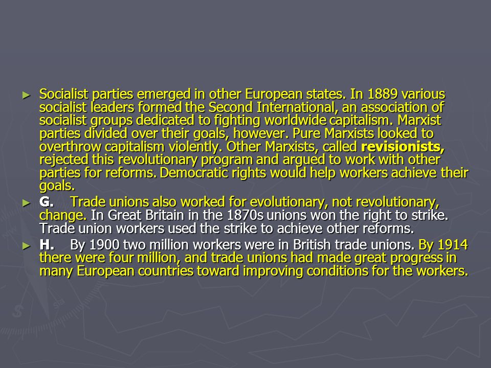 Socialist parties emerged in other European states.