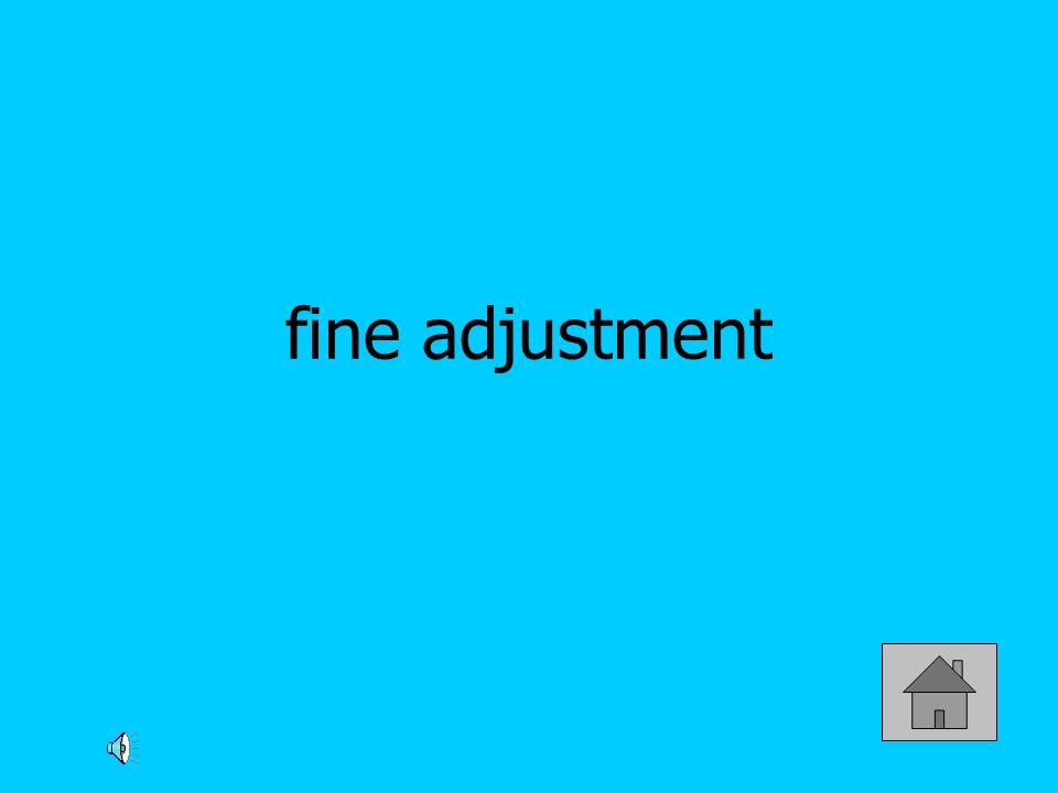 fine adjustment