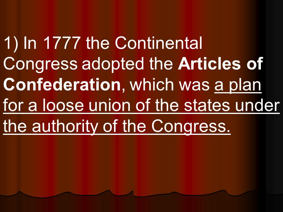 21) The Constitution provided for a separation of powers among the 3 branches of the federal govt.
