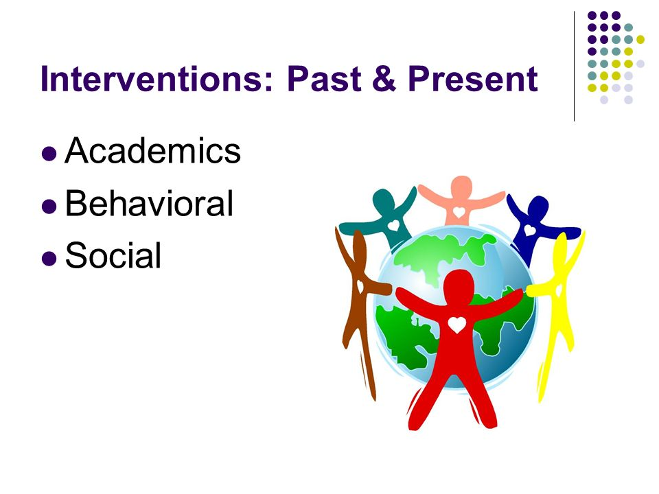Interventions: Past & Present Academics Behavioral Social