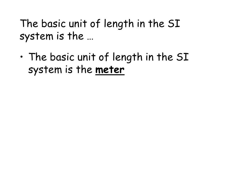 Length Units of Length