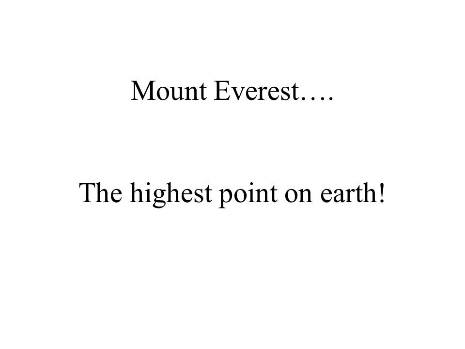 What is….. 8850m tall?