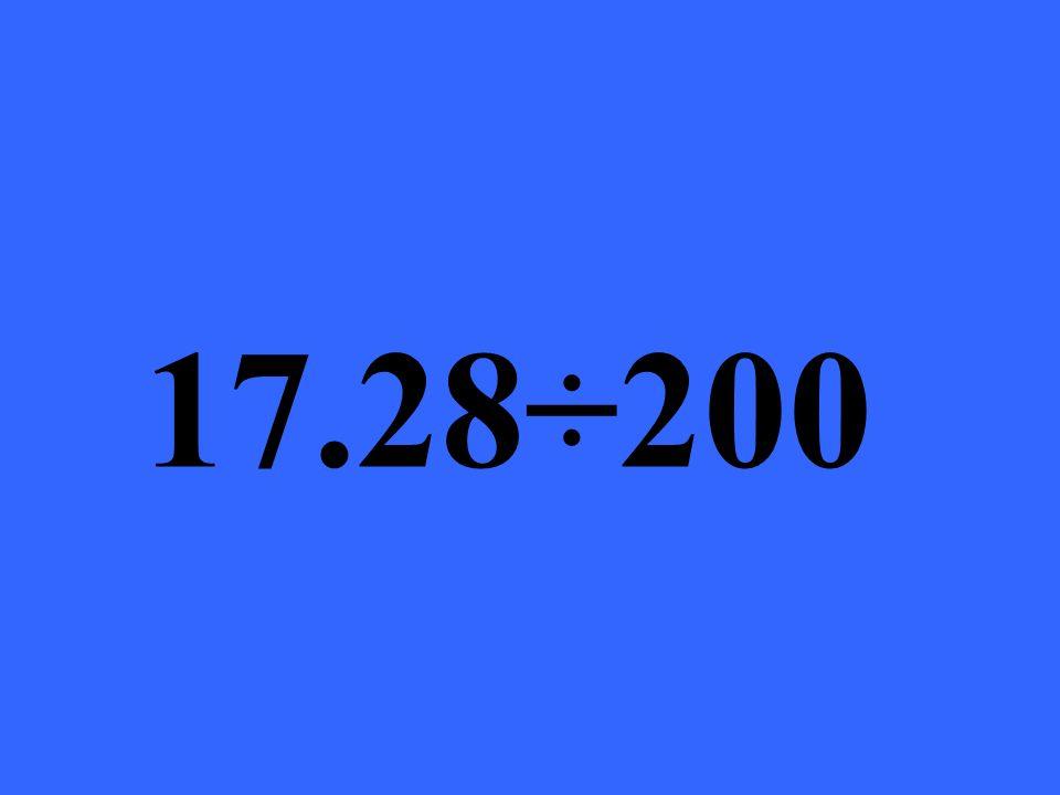 17.28÷200