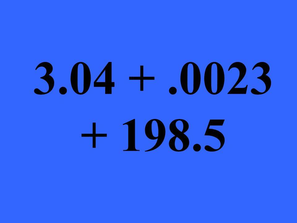 3.04 +.0023 + 198.5