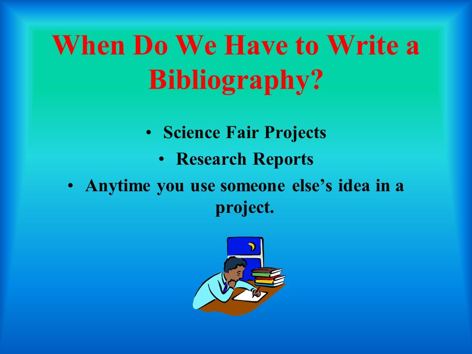 What to write in bibliography for project
