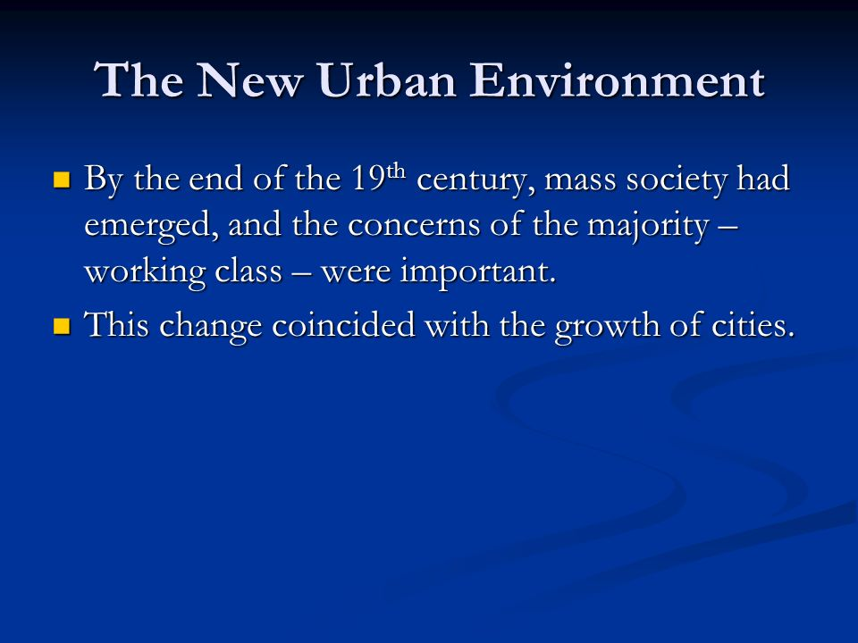 Chapter 13 Mass Society and Democracy Section 2 The Emergence of Mass Society