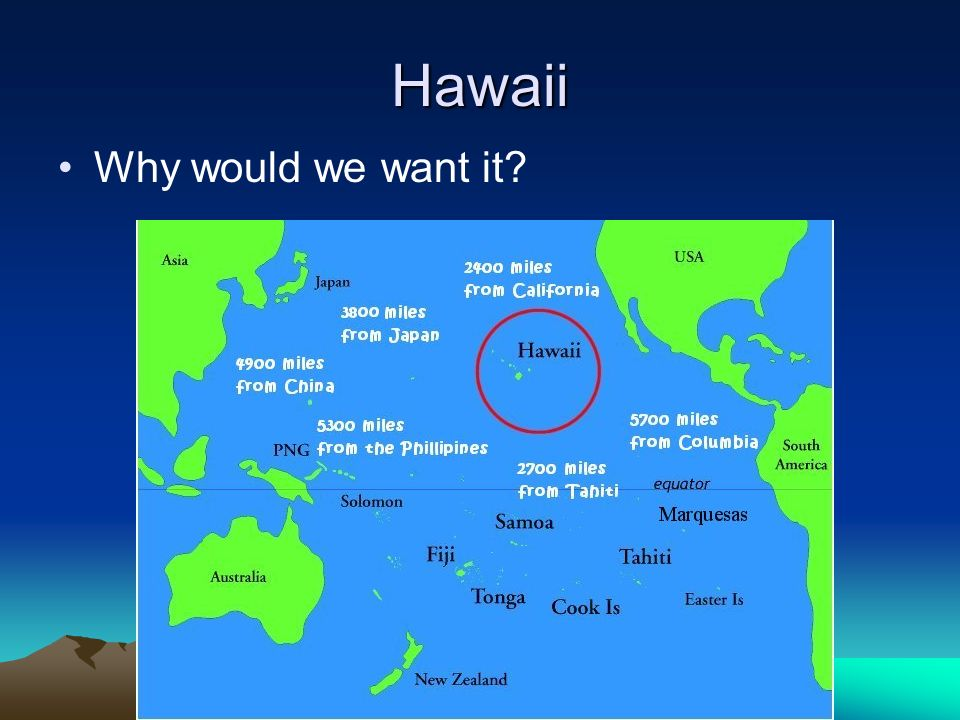 Hawaii Why would we want it?