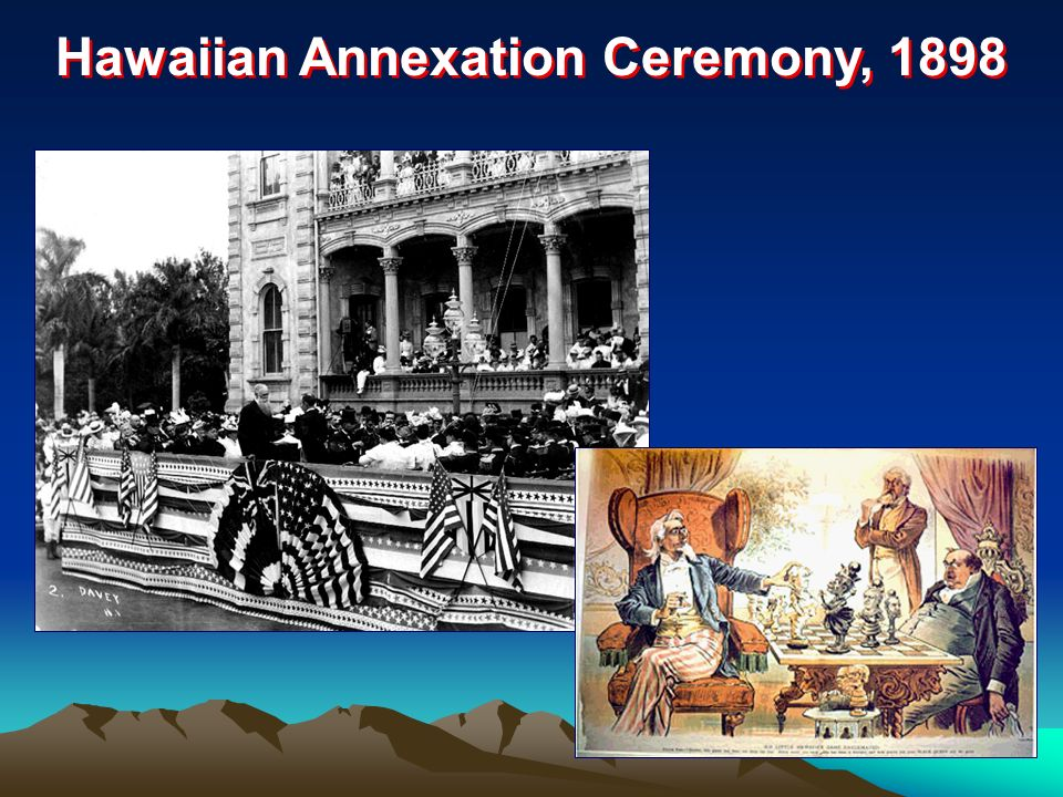 Hawaiian Annexation Ceremony, 1898