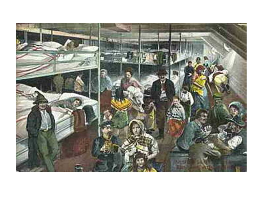 Many immigrants had brought on board balls of yarn, leaving one end of the line with someone on land.
