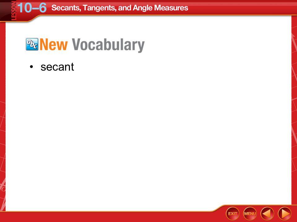 Vocabulary secant