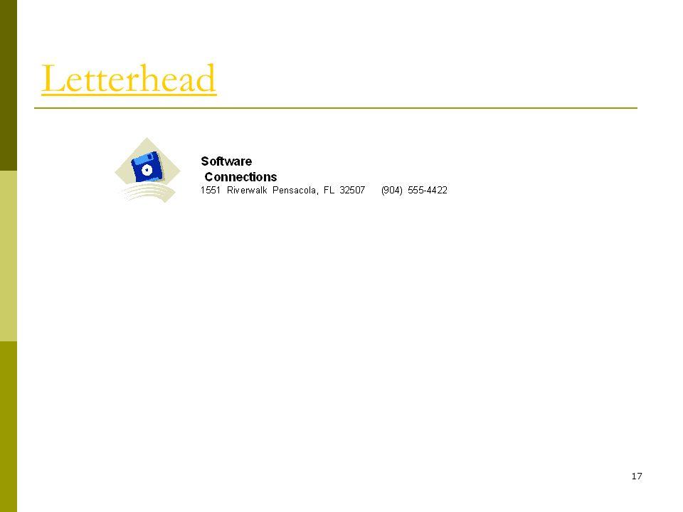 17 Letterhead