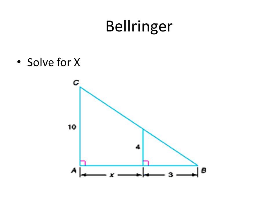 Bellringer Solve for X