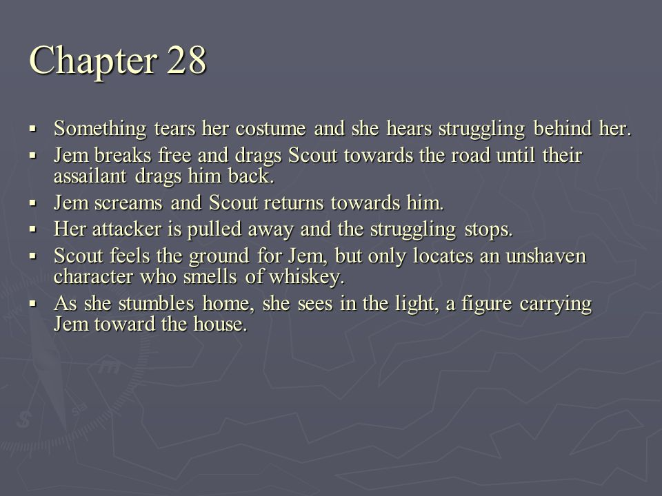 Chapter 28 Something tears her costume and she hears struggling behind her. Something tears her costume and she hears struggling behind her. Jem break