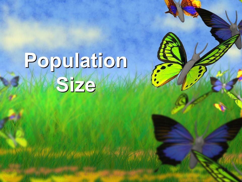 58 Population Size