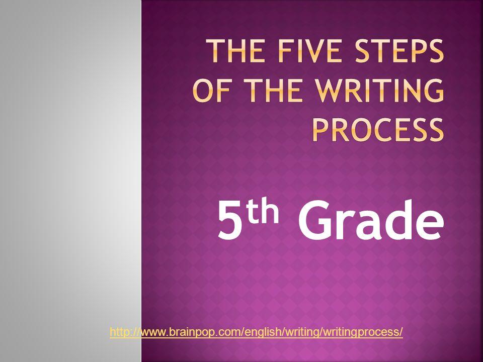 5 th Grade http://www.brainpop.com/english/writing/writingprocess/