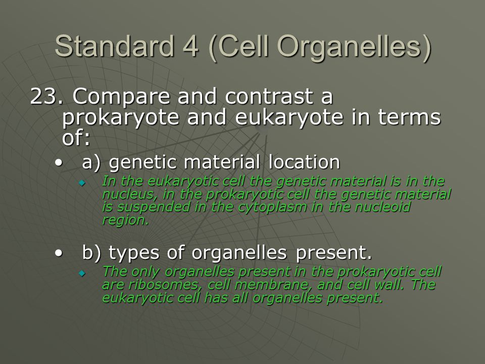 Standard 4 (Cell Organelles) 23.