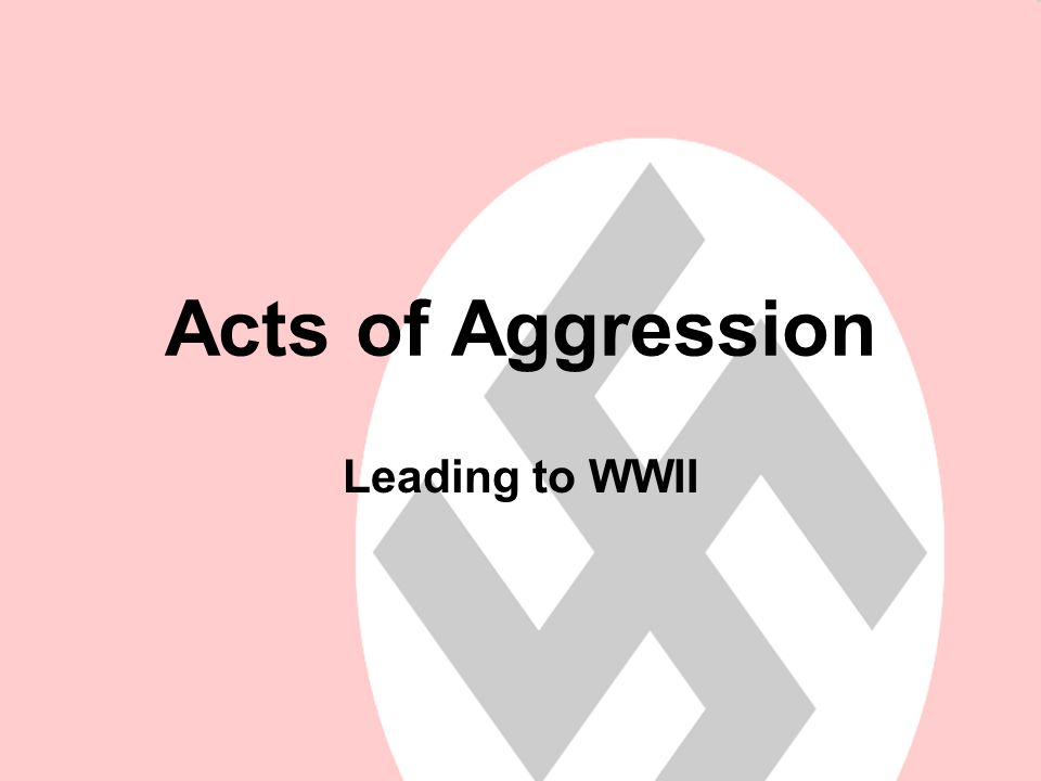 Acts of Aggression: Why would one country want to take over another country.