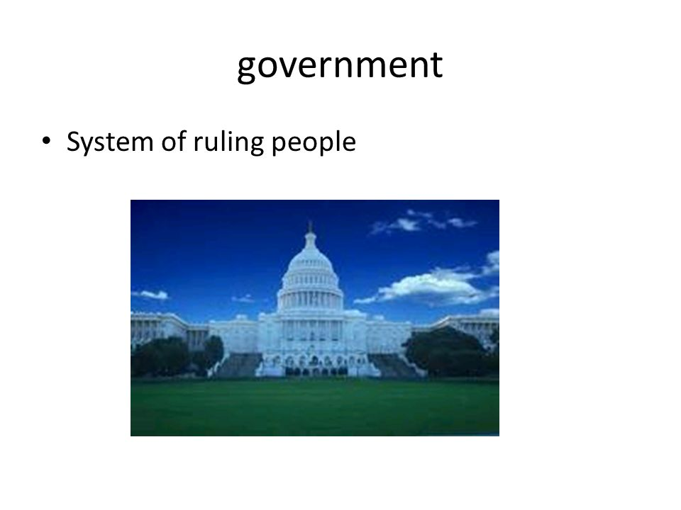 government System of ruling people