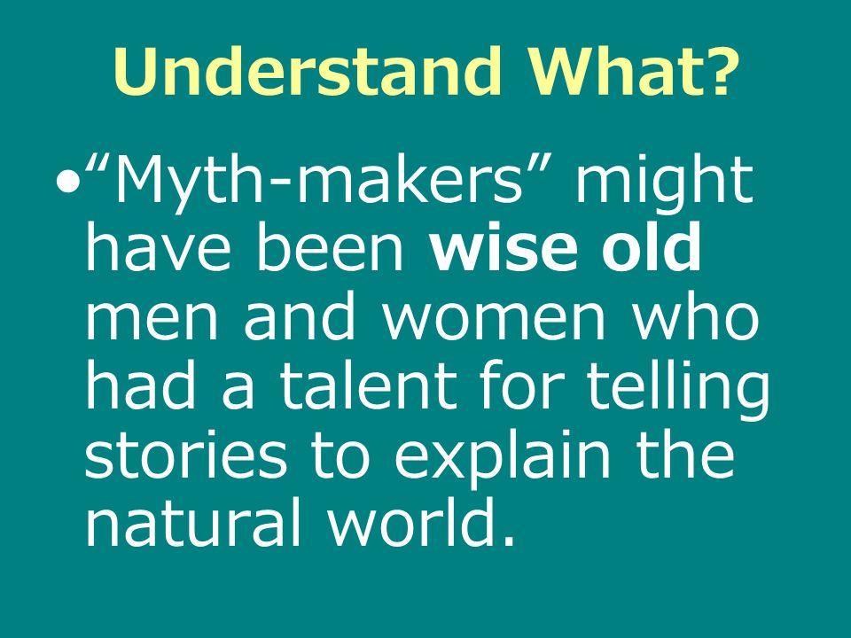 Understand What.
