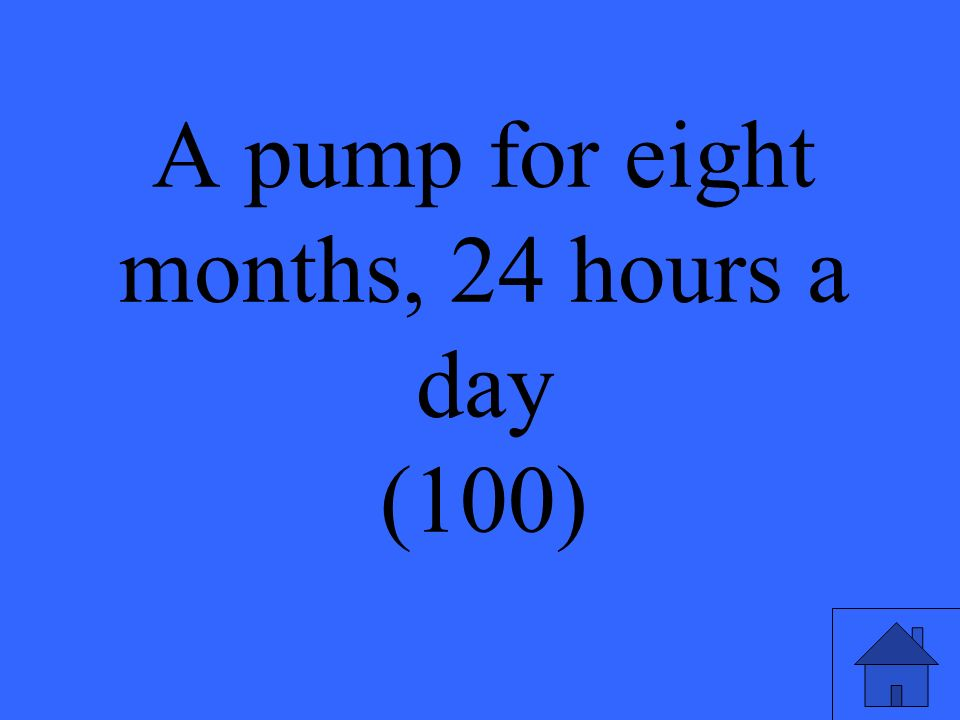 A pump for eight months, 24 hours a day (100)