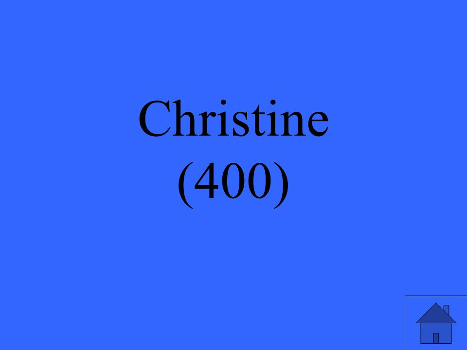 Whose grave does Christine visit?