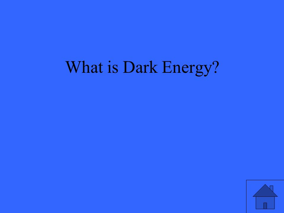 What is Dark Energy