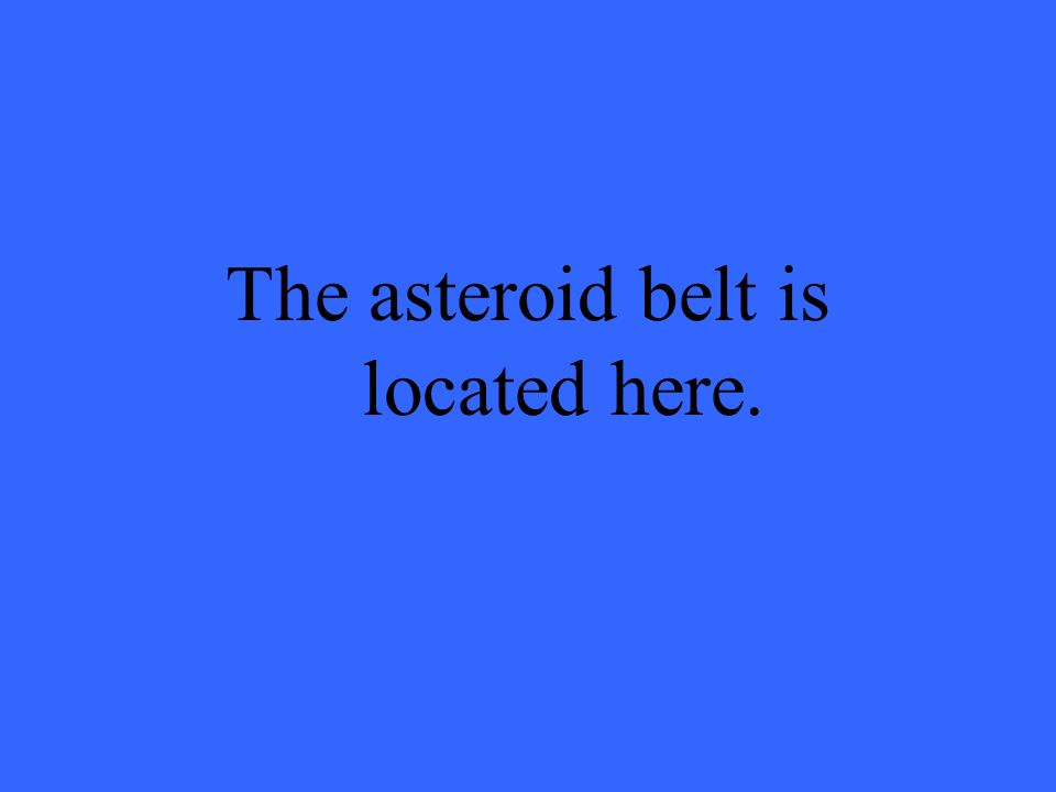 The asteroid belt is located here.