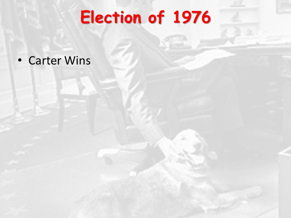 Election of 1976 Carter Wins