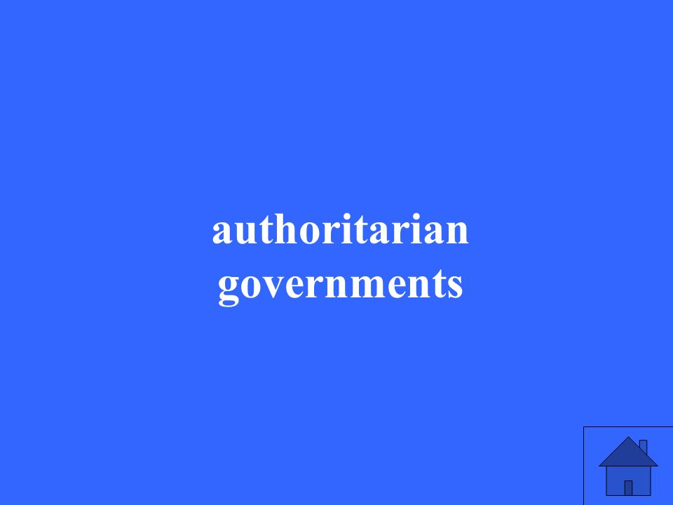 authoritarian governments