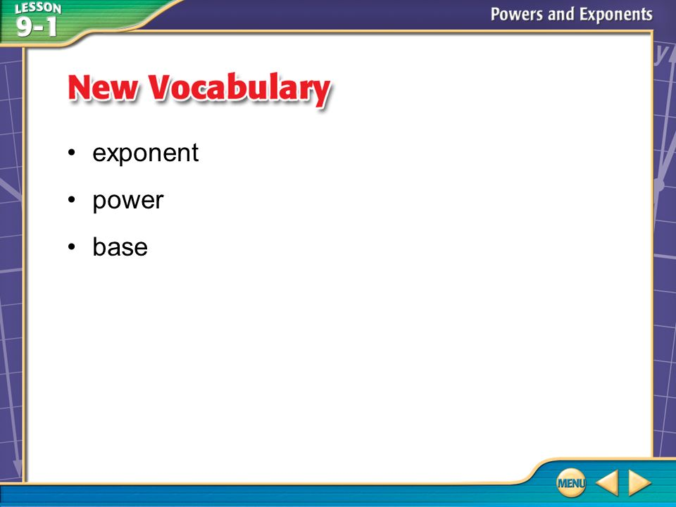 Vocabulary exponent power base