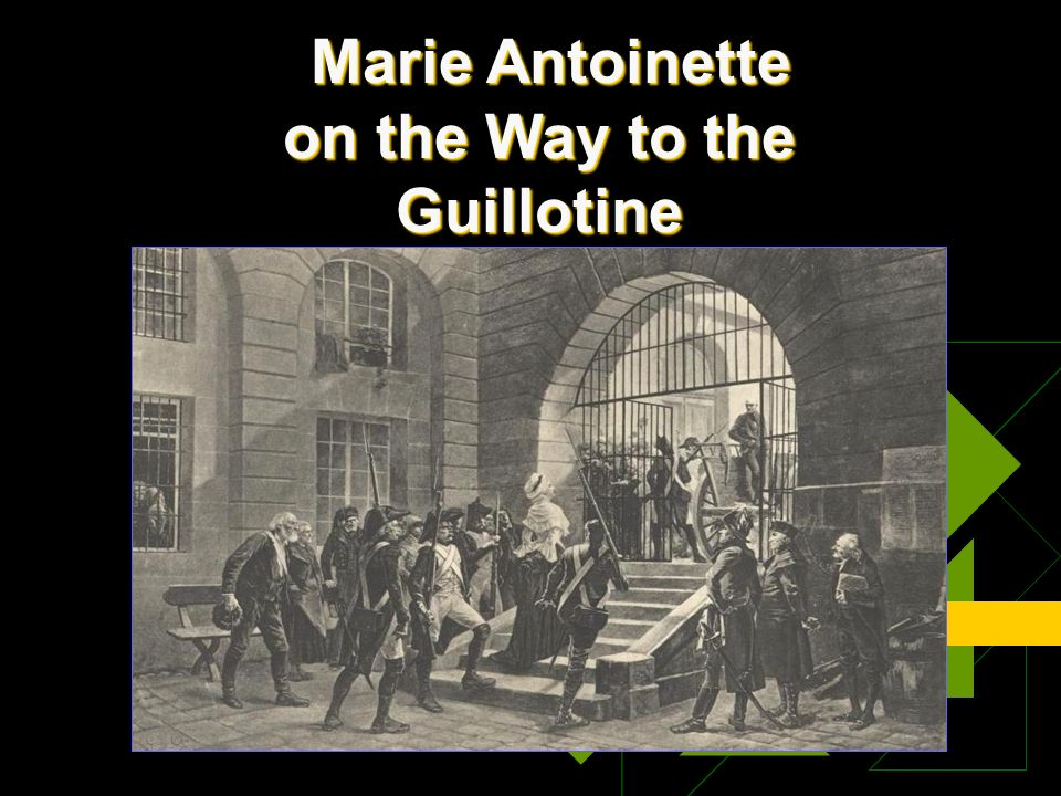 Marie Antoinette on the Way to the Guillotine Marie Antoinette on the Way to the Guillotine
