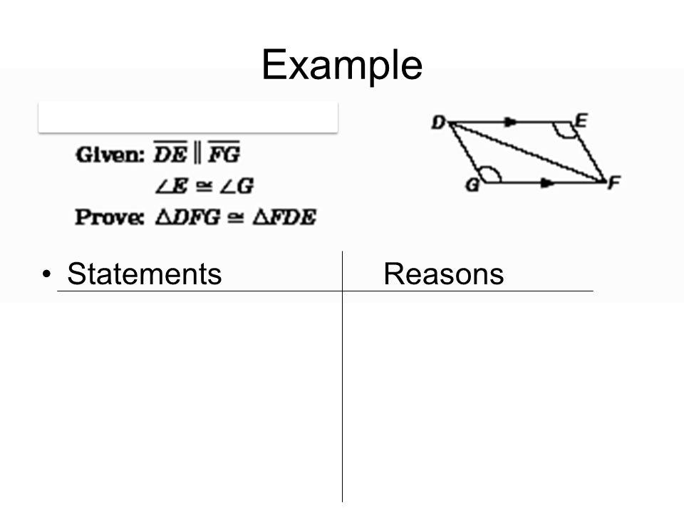 Example StatementsReasons