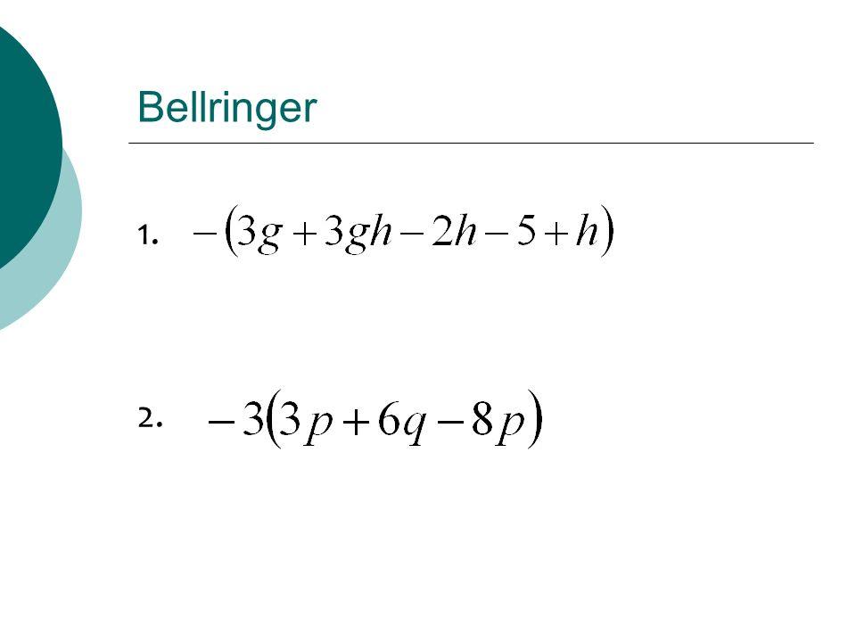 Bellringer 1. 2.