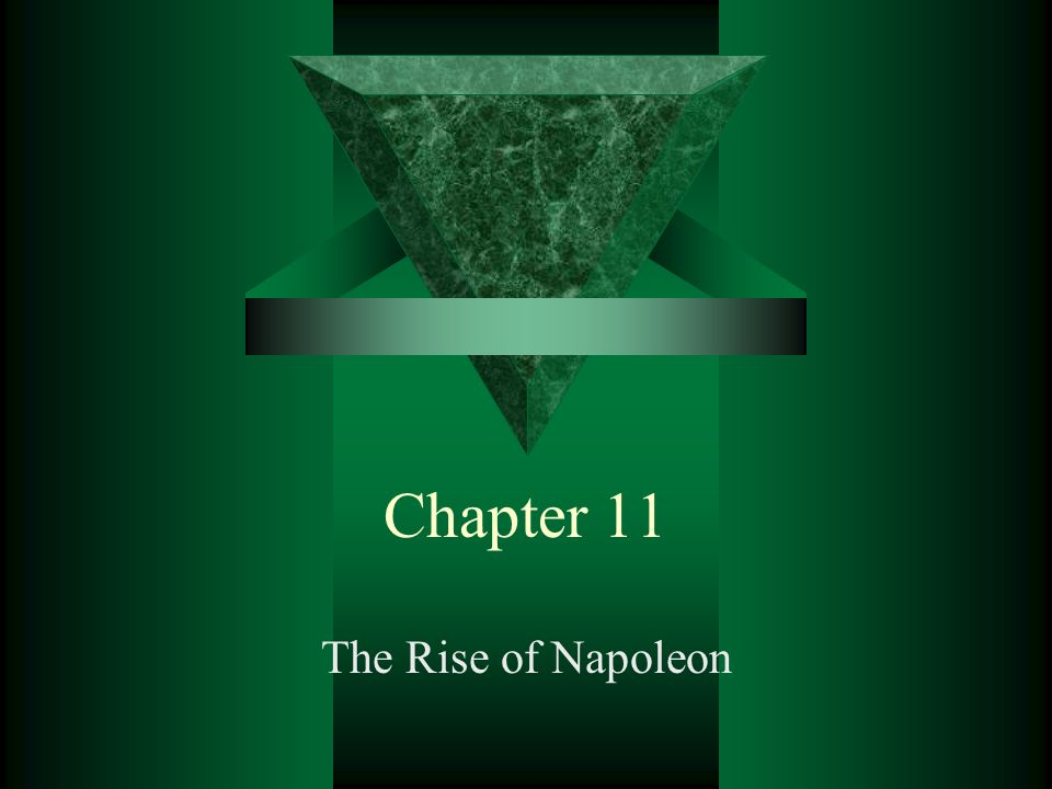 Chapter 11 The Rise of Napoleon