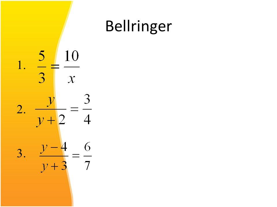 Bellringer 1. 2. 3.