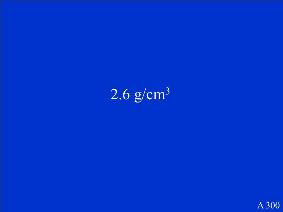 2.5 g/cm 3 A 200