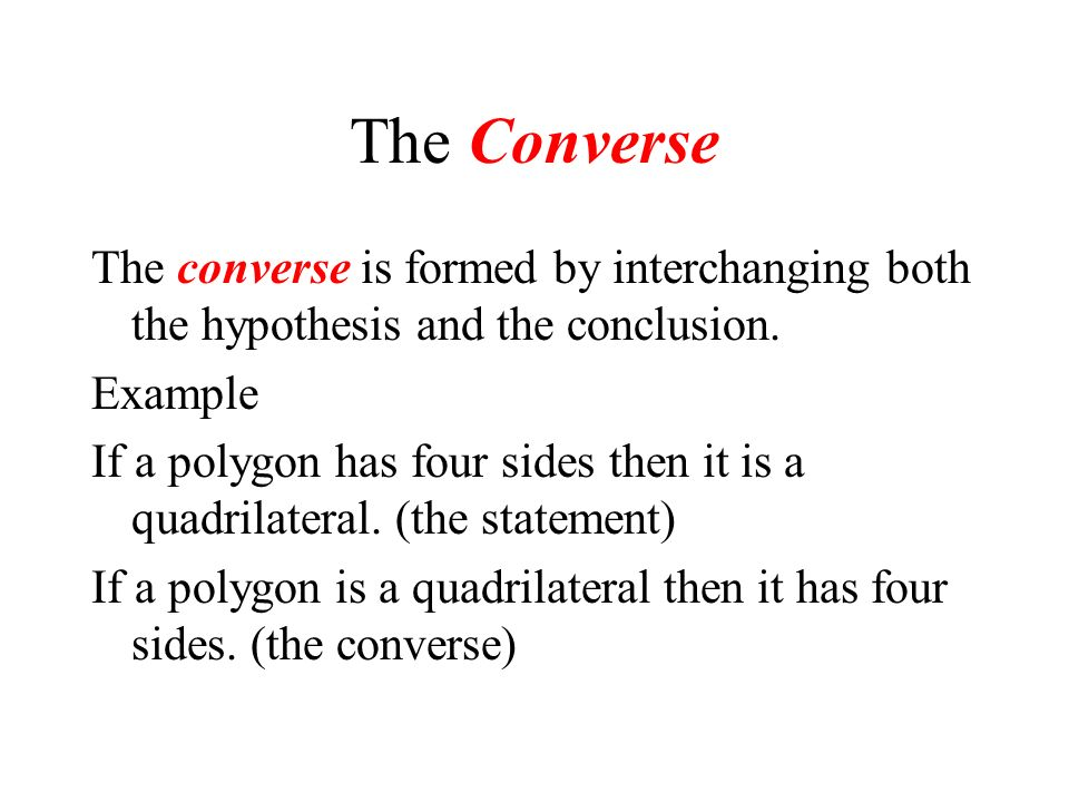 The inverse written in symbolic form Examples p q is the statement ~p ~q is the inverse. or ~p q is the statement then p ~q is the inverse. In symboli