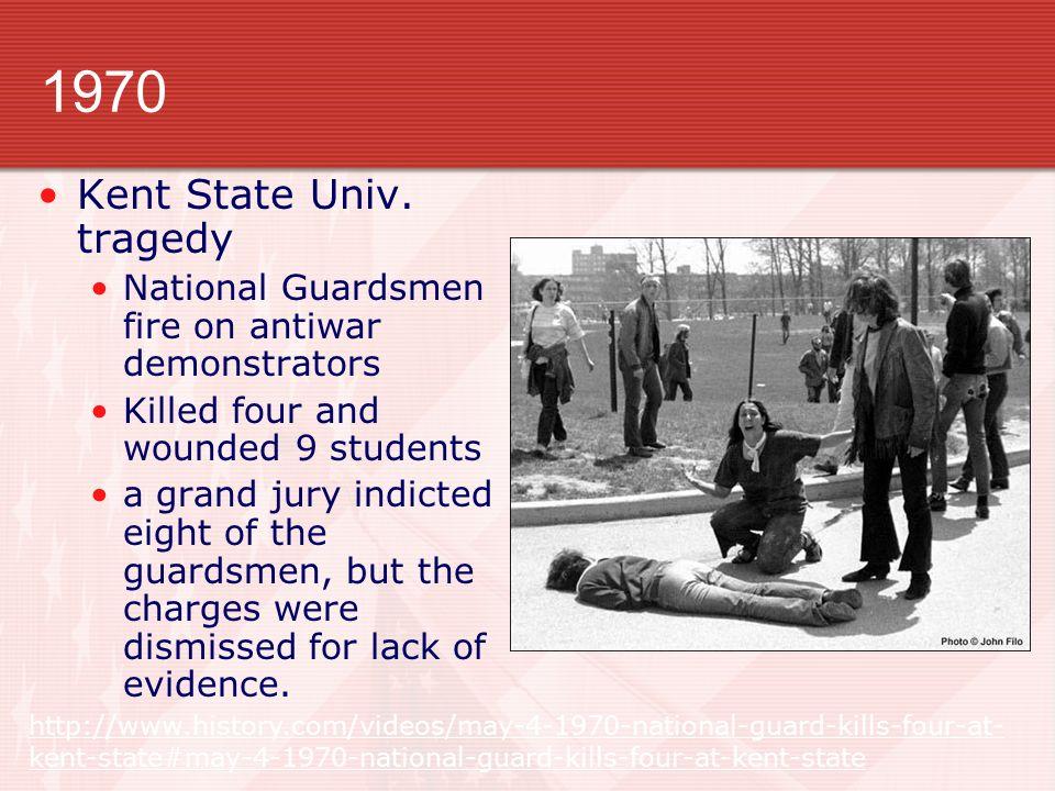 1970 Kent State Univ.