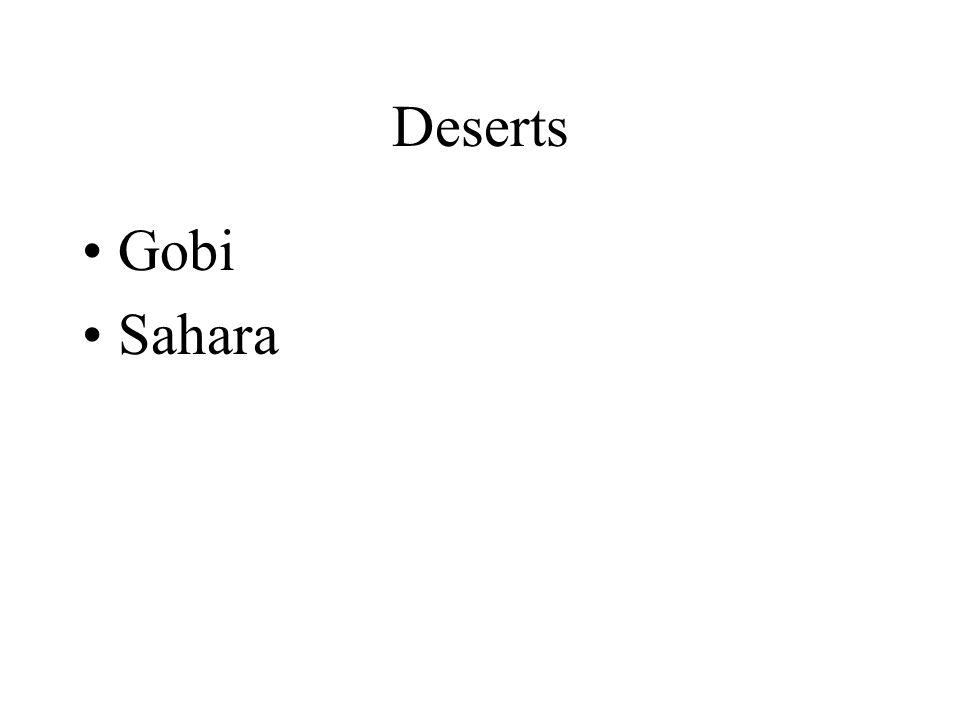 Deserts Gobi Sahara