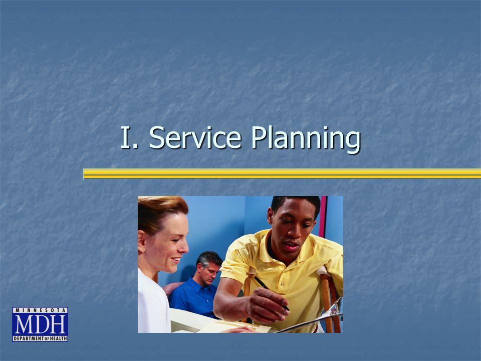 I. Service Planning