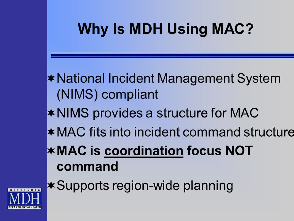 Why Is MDH Using MAC.