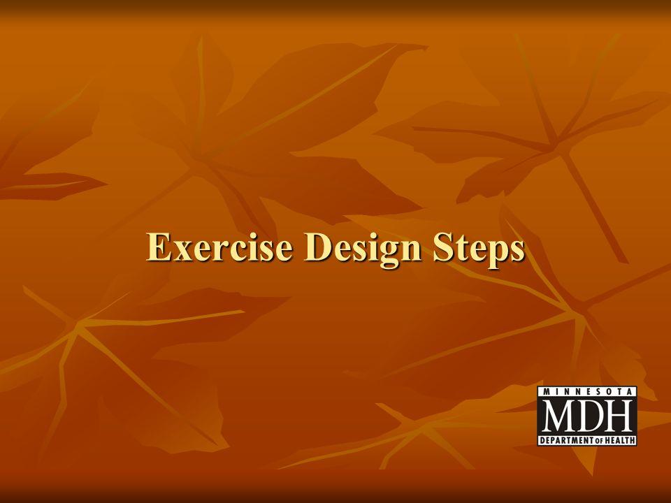 Exercise Design Steps