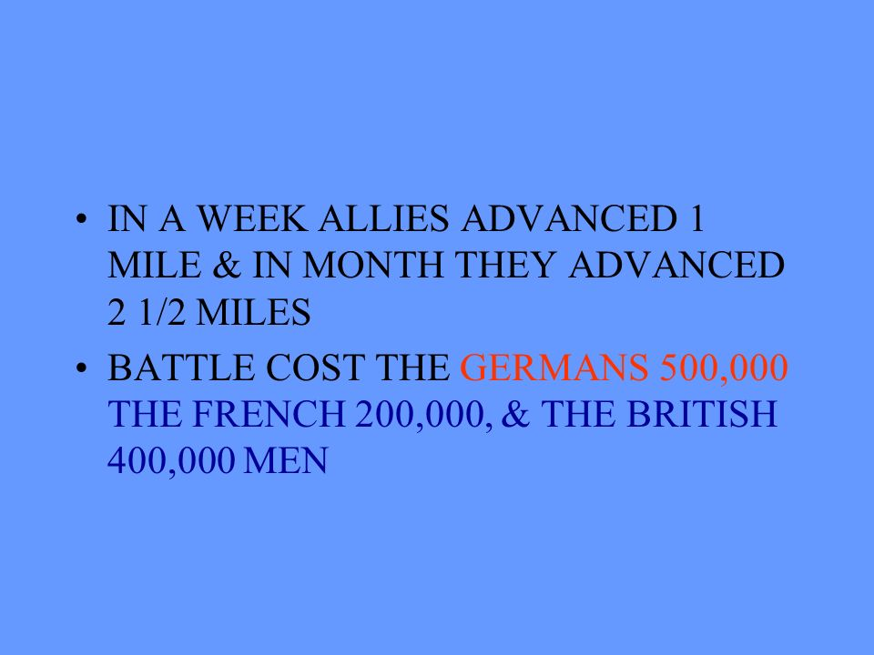 WEEK-LONG ARTILLERY BOMBARDMENT FAILED TO WEAKEN GERMANS BRITISH LOST 60,000 MEN ON FIRST DAY!!!