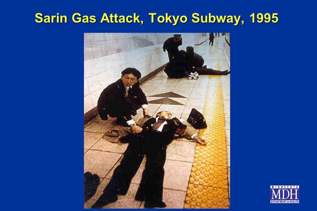 Sarin Gas Attack, Tokyo Subway, 1995
