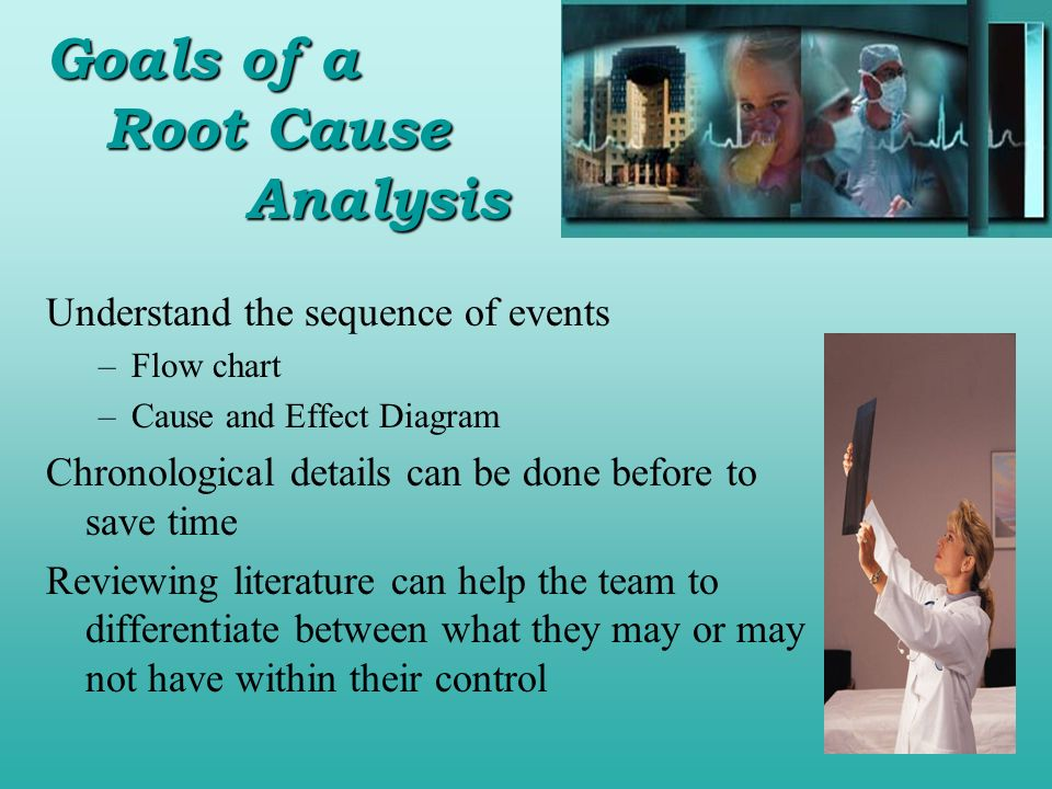 Understand the sequence of events –Flow chart –Cause and Effect Diagram Chronological details can be done before to save time Reviewing literature can