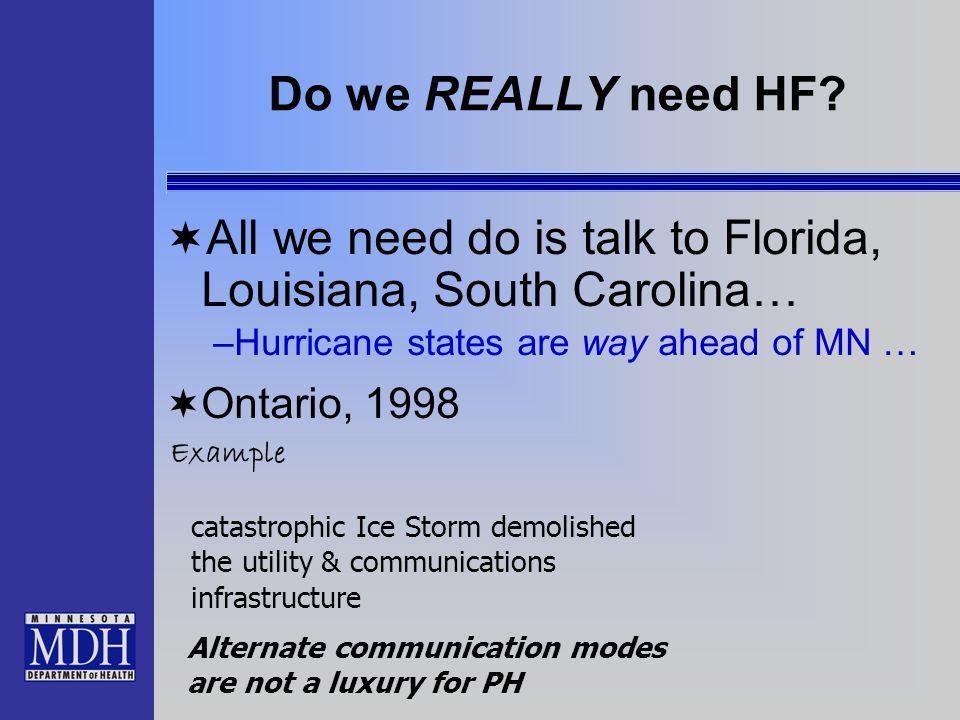Do we REALLY need HF.