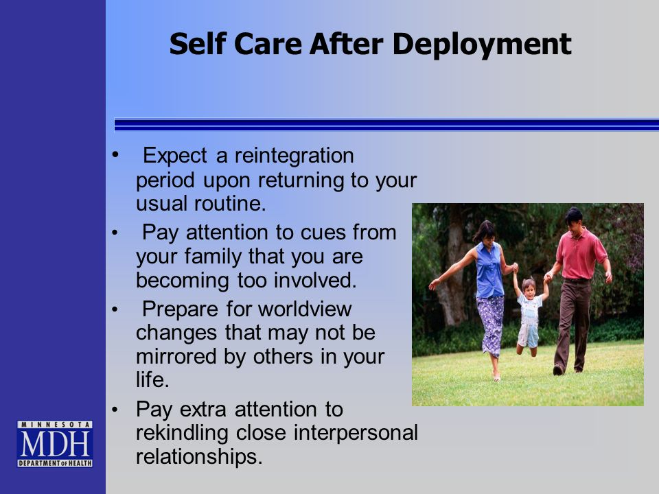 Expect a reintegration period upon returning to your usual routine. Pay attention to cues from your family that you are becoming too involved. Prepare