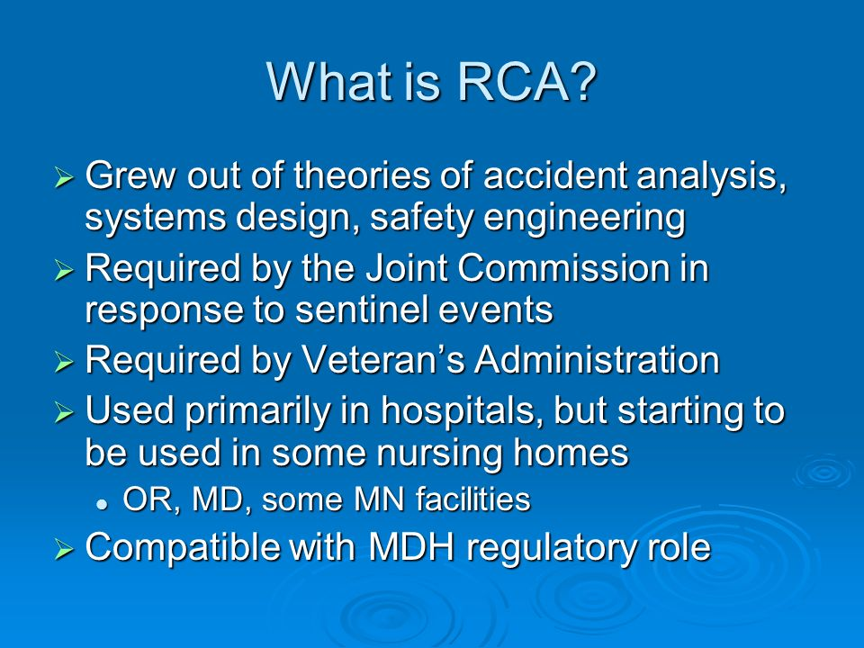 What is RCA.