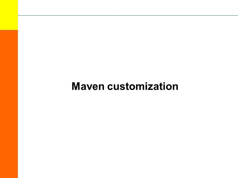 Maven customization